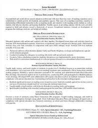 More Special education teacher resume templates  Special Education Teacher Resume Sample   Page