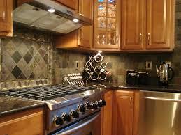 Kitchen Backsplash Design Cool Decorating Ideas Using Rectangular Brown Wooden Desks And
