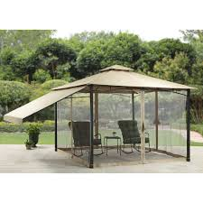patio gazebos and canopies better homes and gardens canal drive cabin style gazebo 11 u0027 x 11