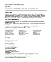 Financial Resume Sample by Best Finance Resume Templates 31 Free Word Pdf Documents
