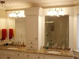 modern porcelain sink wooden bathroom cabinet mirror ideas