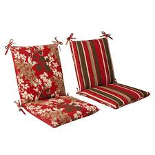 Where To Buy Patio Cushions by Amazon Com Pillow Perfect Indoor Outdoor Red Brown Floral Striped
