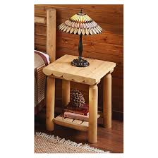 Cedar Bedroom Furniture Castlecreek Cedar Log Side Table 235871 Bedroom Sets At