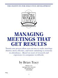 brian tracy managing meetings that get results pdf leadership