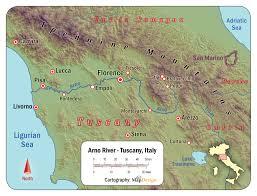 Tuscany Map Arno River Map My Blog