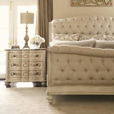 Bedroom Luxury Tufted Sleigh Bed For Cozy Bedroom Furniture Ideas - White tufted leather bedroom set