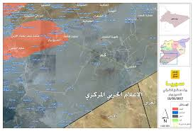 Iraq Syria Map by South Syria Pro Hezbollah Map Showing 100 Km Left For Government