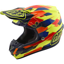 troy lee designs motocross helmet troy lee designs 2018 se4 composite maze yellow blue helmet at