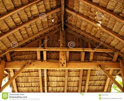 thatch tropical hut cottage interior royalty free stock image