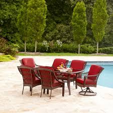 Lazy Boy Furniture Outlet La Z Boy Outdoor Dsct 7pc Scarlett 7 Piece Dining Set Red