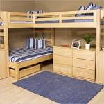 Kids Room. Enchanting Bunk Beds With Desk : Simplistic Wooden Bunk ...