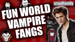 vampire fangs spirit halloween fun world vampire fangs howto episode 7 unboxing everything