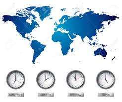 World Time Zones Map by World Map With Time Zones Royalty Free Cliparts Vectors And