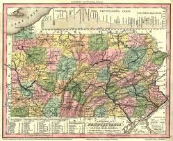 Map Of Pennsylvania And New Jersey by Pagenealogy Net Pennsylvania Historical Maps