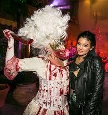 costumes halloween horror nights chris brown u0026 karrueche kylie jenner u0026 tyga the universal