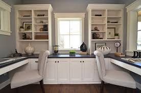 Gray Home Office Designs Decorating Ideas Design Trends - Home office cabinet design ideas