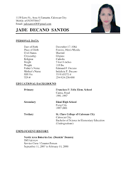 Resume Sample Pdf by High Student Resume Sample Philippines Image Gallery Hcpr