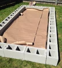 how to build a cinder block raised garden bed raising gardens