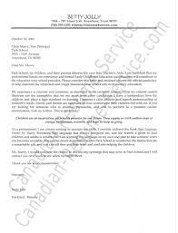 Child Care Cover Letter Samples Teaching Cover Letters Resume Cv Cover Letter