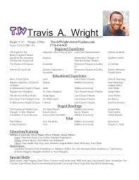Free Resume Builder Yahoo Acting Resume Samples