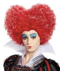 Red Queen Halloween Costume Alice Wonderland Red Queen Wig Wigs