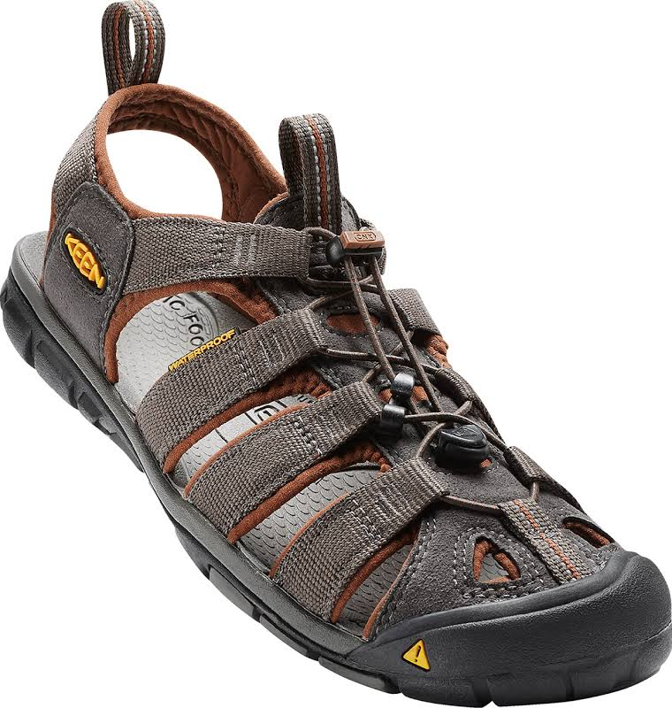 KEEN Clearwater Cnx Sandals Raven/Tortoise Shell 12 1014456-600-12
