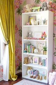 Kids Room Bookcase by The Nursery White Bookshelves Floral Wallpapers And Vintage