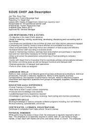 Cook Resume Sample Pdf Sous Chef Resume Examples Speakspowers Tk
