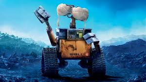 Wall-E sticking a bra on his face, not sure what it's for