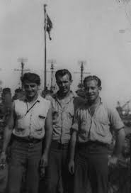 Paul Gronowski, Bud Kalosky \u0026amp; BM1c Joe Cavanaugh. Photos from BM2 Harold \u0026quot;Bud\u0026quot; Kalosky - 1943-1946 - Paul%20Gronowski,%20Bud%20Kalosky,%20Joe%20Cavanaugh%20large