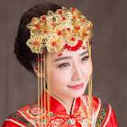 NAME:Luxury Classic Costume Beautiful Phoenix Coronet Tassel Hair Clasp
