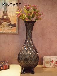 large floor vase kingart metal tabletop flower vase large floor