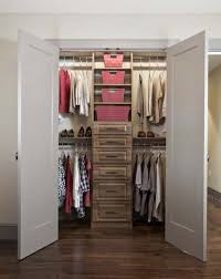 furniture small bedroom walk in closet design with cream wood