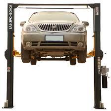 asymmetric two post car lift 10 000 lb capacity h10kca
