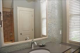 shower glass panel bathroom modern with blue glass tile glass