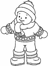 winter clothes coloring page preschool pinterest winter