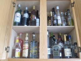 liquor cabinet how to organize kitchen cabinets popsugar food