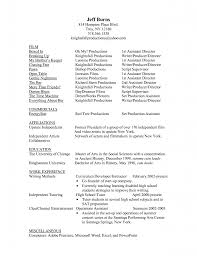 Resume Sample Director by Heavenly Free Film Production Assistant Resume Template Sample Ms