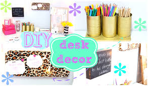 Desk Organization Accessories by Diy Desk Decor Easy U0026 Inexpensive Youtube