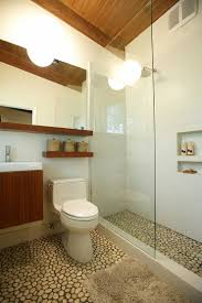 inspiring mid century modern bathroom for your home pebble tile