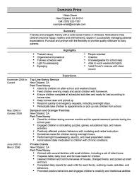Tutoring Job Resume Job Description Nanny Resume Cv Cover Letter