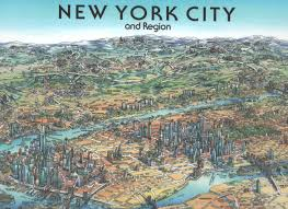 Map New York City by New York City Wall Map By Unique Media Zoom