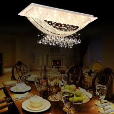 Crystal Chandeliers For Dining Room Luxuriant Crystal Flush Mount Light With 8 Lights Ceiling Light