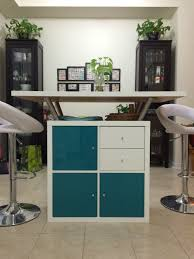 Used Kitchen Island Kallax Shelf And Table Top From Ikea Used To Make This Kitchen