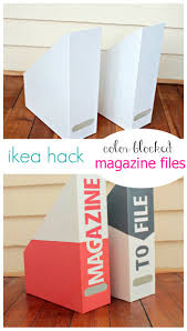 ikea hack magazine holder makeover view from the fridgeview