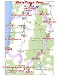 Newport Oregon Map by Circle Oregon U0026 The Rose Festival Shebby Lee Tours