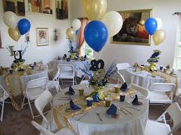 Home Parties Home Decor by Lasalle University Graduation Party Gold Blue And Cream Décor