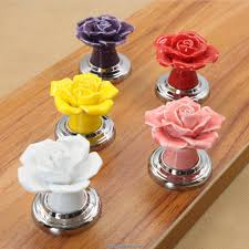 2pcs ceramic cabinet knobs handles dresser drawer pulls kitchen
