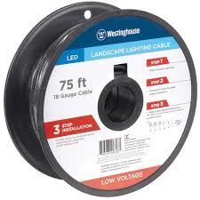 slickdeals home depot black friday 75 u0027 westinghouse 18 gauge low voltage landscape lighting cable