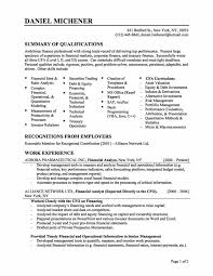 Qualifications Summary Resume Example by Resume Examples Best 10 Layout Design Finance Resume Template